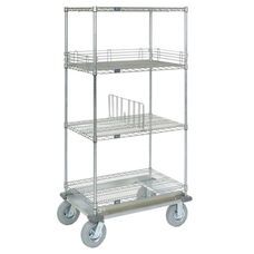 Wire Shelf Dolly Truck W/Pneumatic Wheels - 24