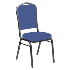 Crown Back Banquet Chair in Canterbury Cadet Fabric - Silver Vein Frame