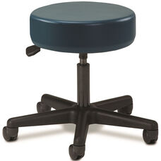 Pneumatic Adjustable Medical Stool - Slate Blue with Black Base