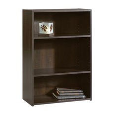 Beginnings 35.25''H Bookcase with Adjustable Shelves - Cinnamon Cherry