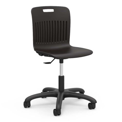 Our Analogy Series Adjustable Height Task Chair with Black Polypropylene Seat - 24.13