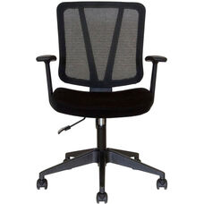 Vida Task Chair with Arms - Black