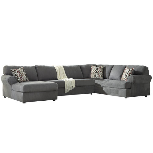 Our Signature Design by Ashley Jayceon 3-Piece Right Side Facing Sofa Sectional in Steel Fabric is on sale now.