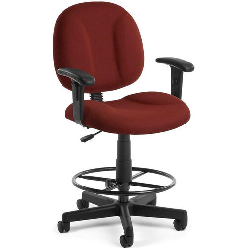 Our Comfort Superchair with Arms and Drafting Kit - Wine is on sale now.