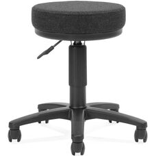 Adjustable Height UtiliStool with Stain Resistant Fabric - Black