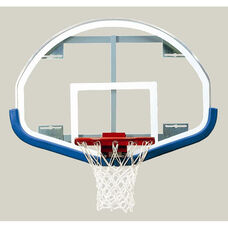 54''W x 39''H Extended Life Competition Fan-Shaped Glass Backboard