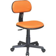 OSP Designs Armless Computer Task Chair with Seat Height Adjustment and Casters - Orange