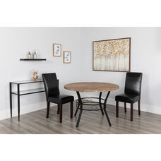 """Tremont 45"""" Round Dining Table in Distressed Driftwood Finish"""