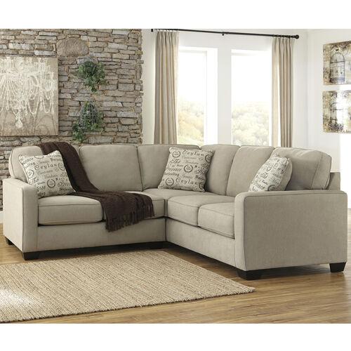 Signature Design by Ashley Alenya 2-Piece Sofa Sectional in Quartz Microfiber