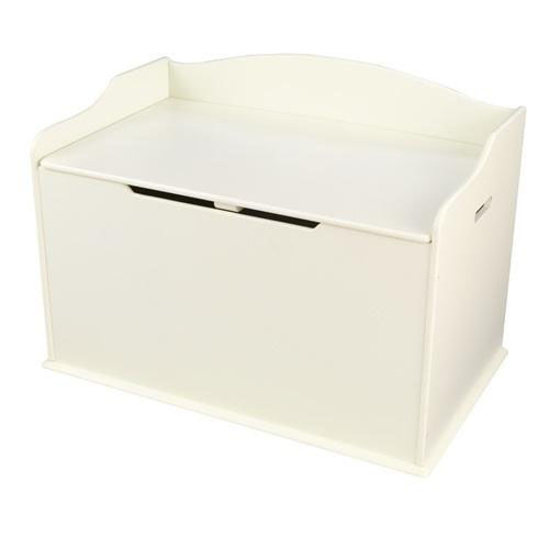Our Austin Wooden Spacious Toy Box with Bench Seating Flip-top Lid - Vanilla is on sale now.