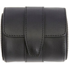 Travel Watch Roll Holds One Watch - Top Grain Nappa Leather - Black