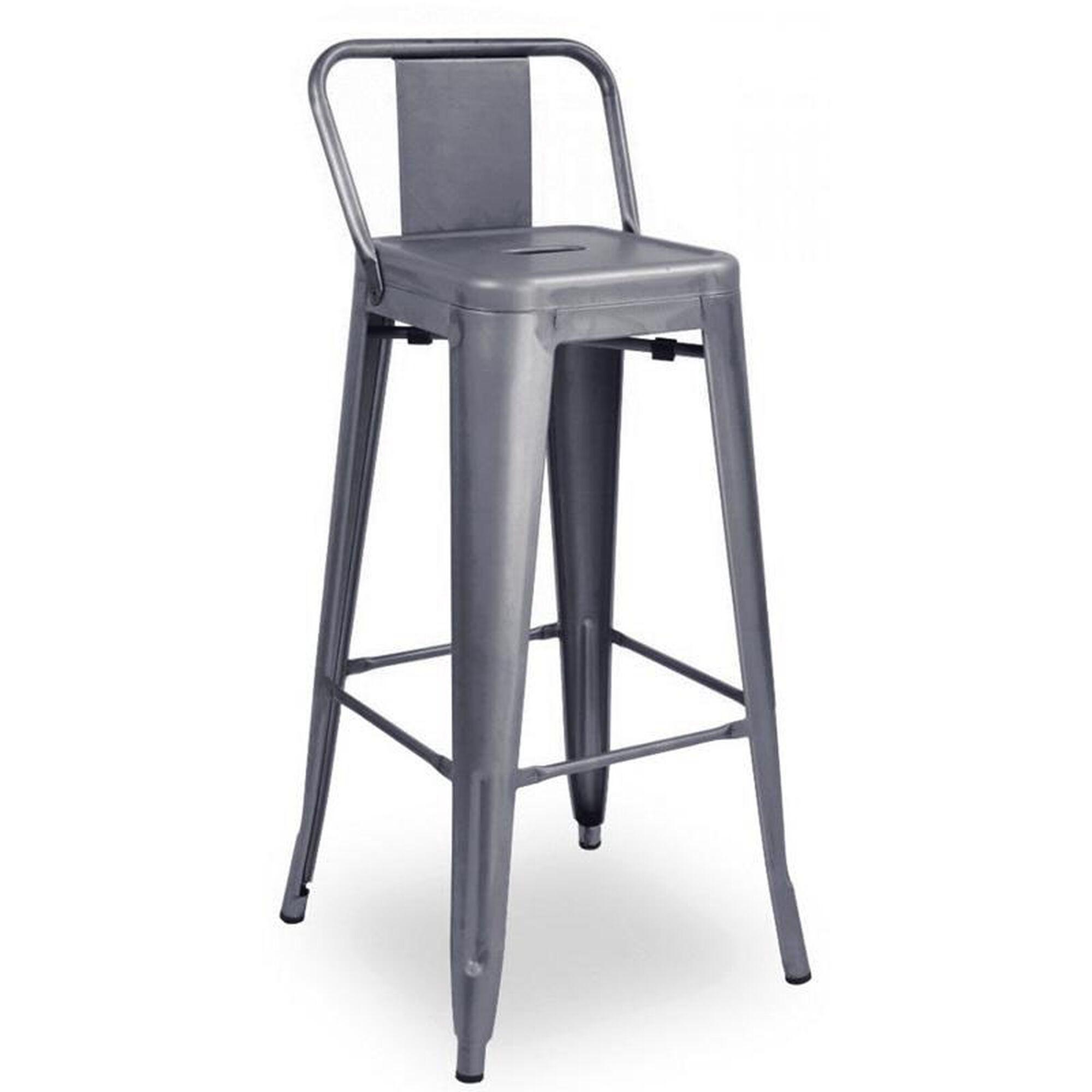 Design Lab Mn Dreux Low Back Steel Barstool Set Of 4