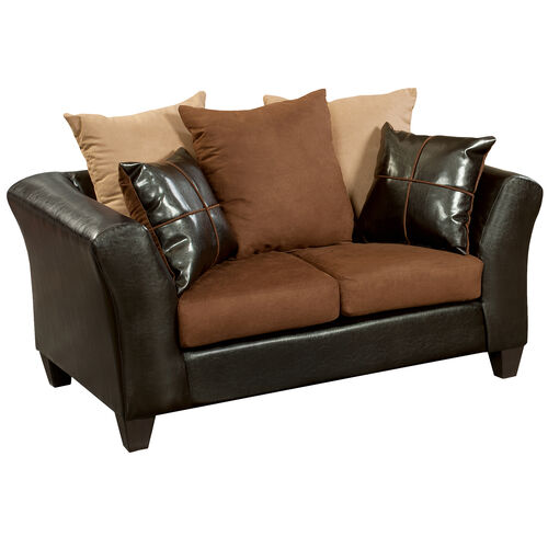 Our Riverstone Sierra Chocolate Microfiber Loveseat is on sale now.