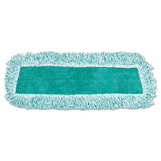 Rubbermaid® Commercial Standard Microfiber Dust Mop With Fringe - Cut-End - 18 x 5 - Green - 12/Carton