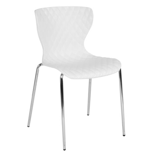 Our Lowell Contemporary Design White Plastic Stack Chair is on sale now.