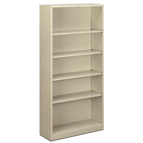 The HON Company Heavy Duty Metal 5 Shelf Bookcase - Putty