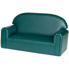 Just Like Home Toddler Size Overstuffed Vinyl Sofa - Teal - 34