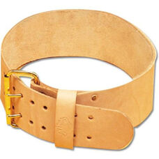 Champion Official Leather Weight Belt with 2 Prong Buckle