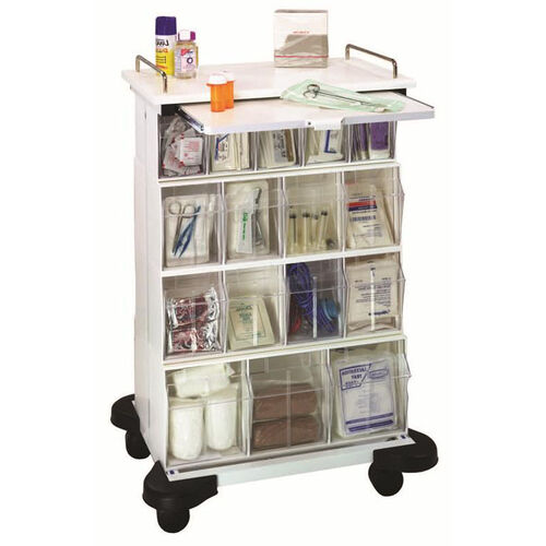 Our White Plastic Ultimate Supply Cart 25