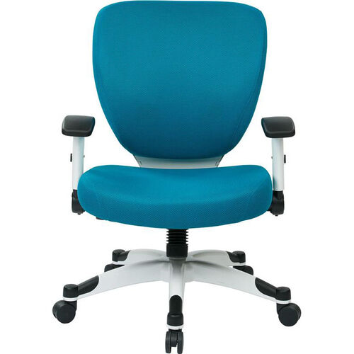 Space Pulsar Padded Mesh Seat and Back Managers Office Chair - Blue