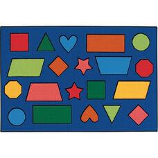 Kids Value Color Shapes Rectangular Nylon Rug - 36