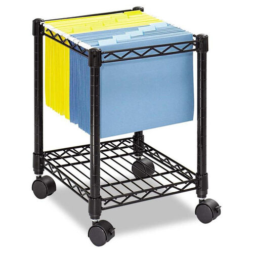 Our Safco® Compact Mobile Wire File Cart - One-Shelf - 15-1/2w x 14d x 19-3/4h - Black is on sale now.