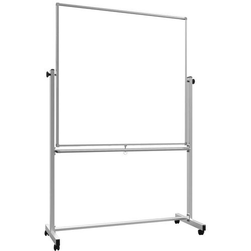 Our Doubled Sided Aluminum Frame Magnetic Mobile Whiteboard with Marker Tray - 57.7