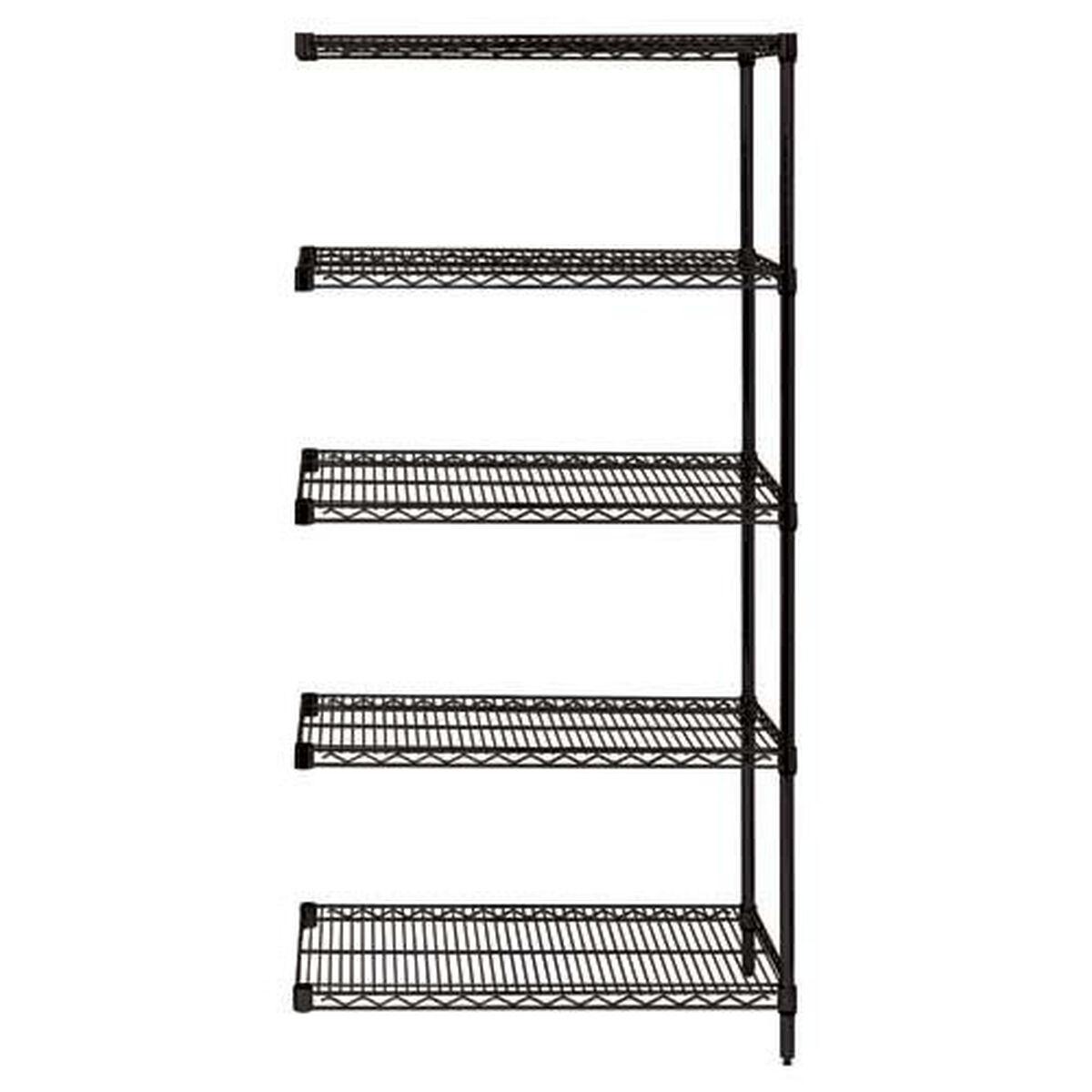 Our black wire shelving 5 shelf add on units 24 w x