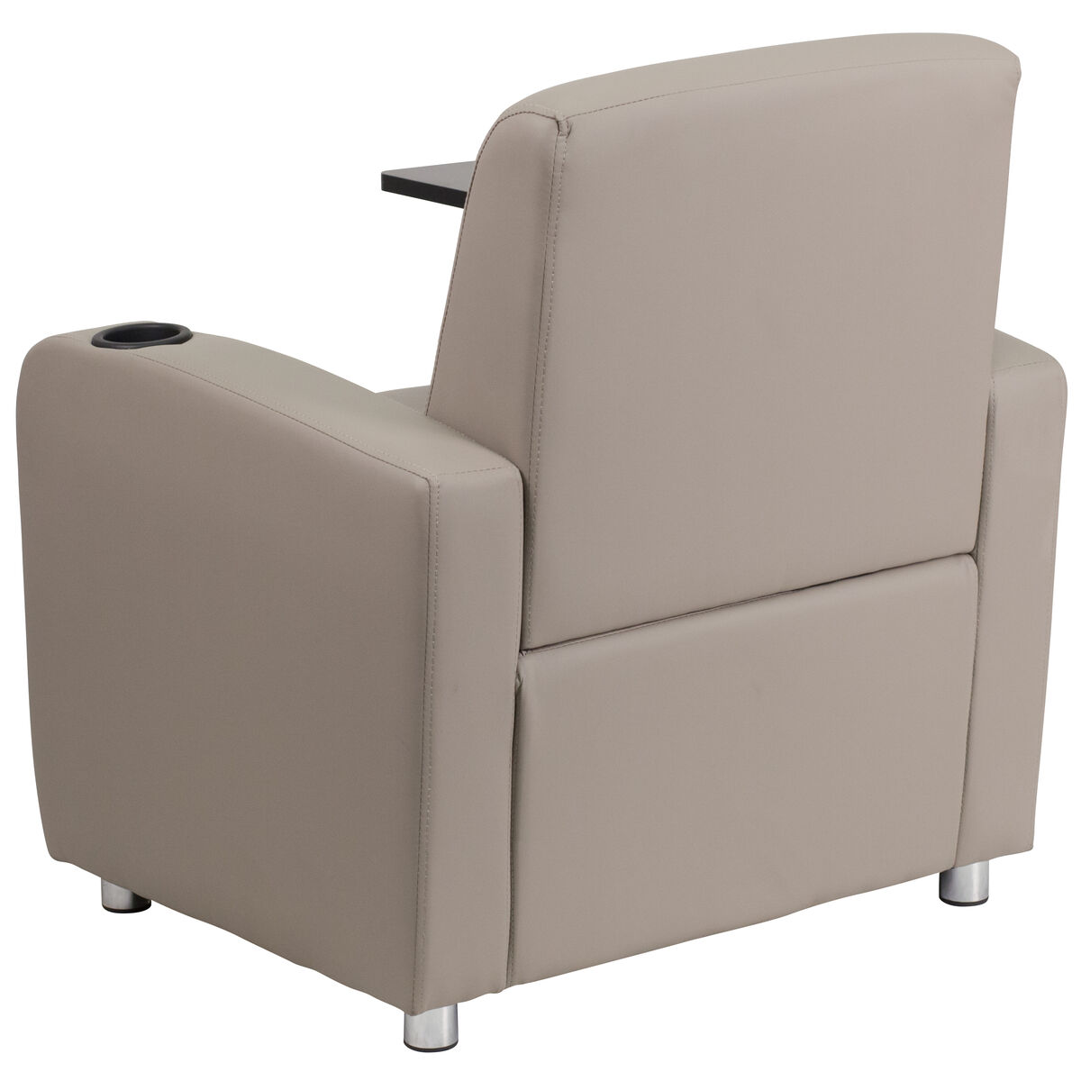 gray leather tablet chair bt 8217 gv gg bizchair com