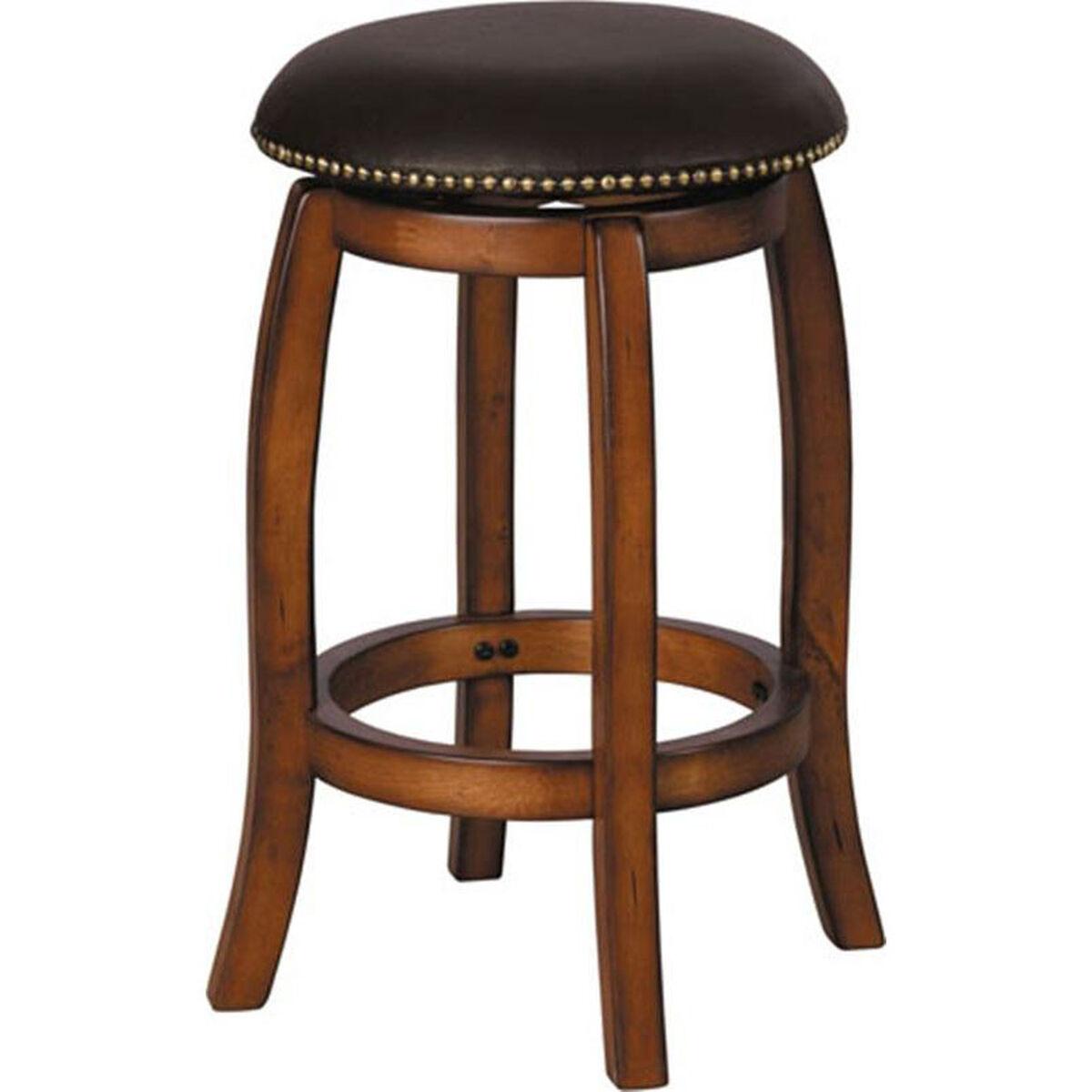Backless Swivel Wood Bar Stool 07247 Bizchaircom