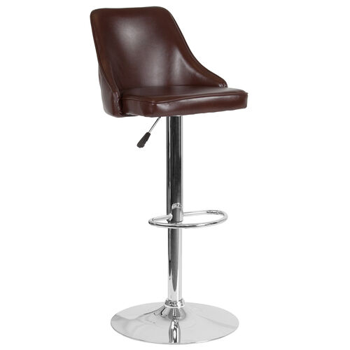 Our Trieste Contemporary Adjustable Height Barstool in Brown LeatherSoft is on sale now.