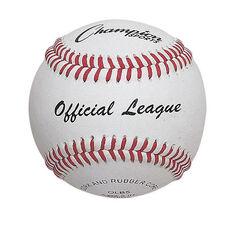 Leather Baseball - Rubber/Cork Blend Core - Set of 12