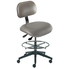Quick Ship Eton Series Chair with Lumbar Support Backrest and Reinforced Composite Base - Medium Seat Height