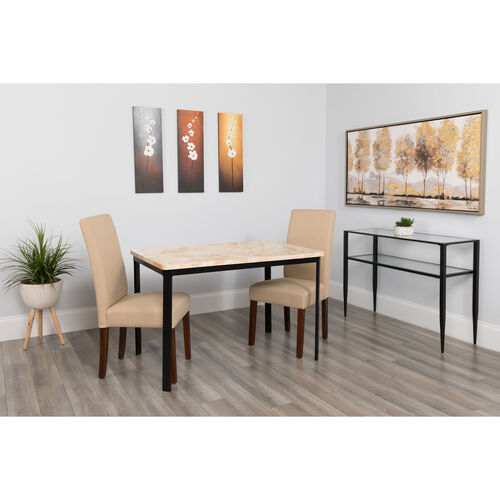 """Our Avalon 30"""" x 45.75"""" Rectangular Dining Table in Quartz Marble-Like Finish is on sale now."""