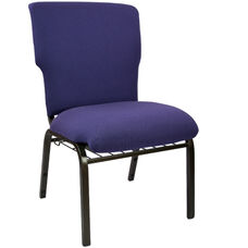 Advantage Eggplant Discount Church Chair - 21 in. Wide