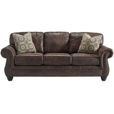 Benchcraft Breville Sofa in Espresso Faux Leather