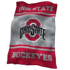 Ohio State University Team Logo Ultra Soft Blanket