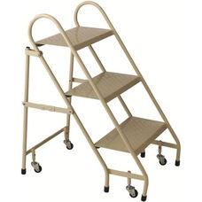 3 Step Steel Folding Ladder - Beige