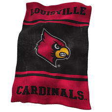 University of Louisville Team Logo Ultra Soft Blanket