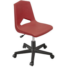 MG Series V-Back Height Adjustable Task Chair with 5 Star Base - Burgundy Seat - 25