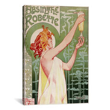 Absinthe Robette Vintage Poster by Privat Livemont Gallery Wrapped Canvas Artwork - 26