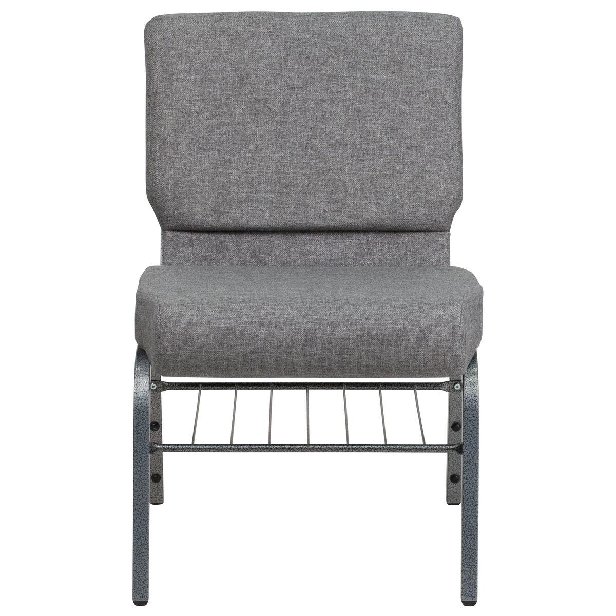 gray fabric church chair xu ch0221 gy sv bas gg bizchair com