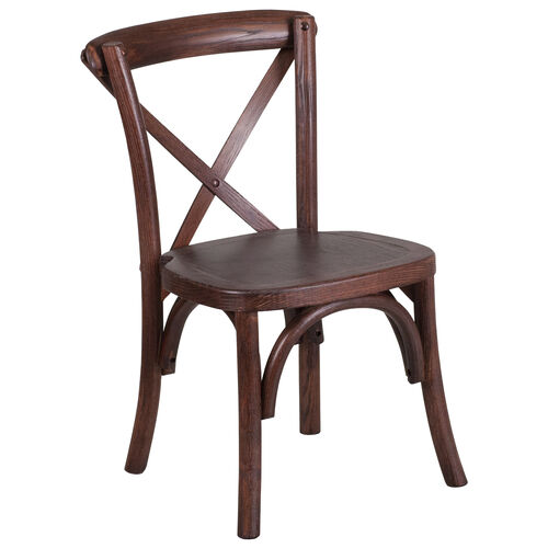 Our HERCULES Series Stackable Kids Mahogany Wood Cross Back Chair is on sale now.