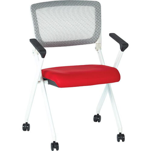 Our Space Pulsar Folding Chair with Breathable Mesh Back and Mesh Fabric Seat - Set of 2 - Red is on sale now.