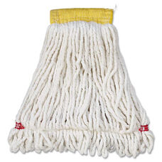 Rubbermaid® Commercial Web Foot Wet Mop Head - Shrinkless - Cotton/Synthetic - White - Small - 6/Carton