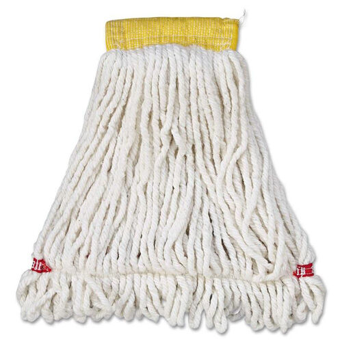 Our Rubbermaid® Commercial Web Foot Wet Mop Head - Shrinkless - Cotton/Synthetic - White - Small - 6/Carton is on sale now.
