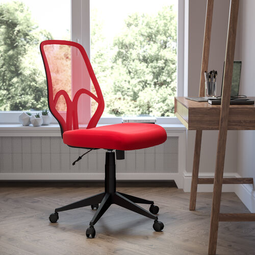 Salerno Series High Back Red Mesh Office Chair