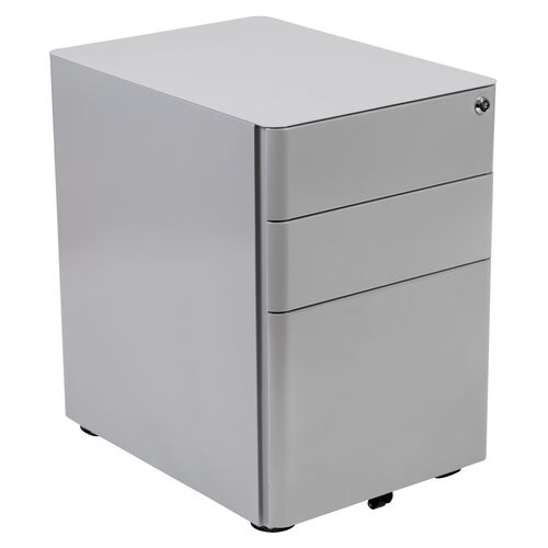 Our Modern 3-Drawer Mobile Locking Filing Cabinet with Anti-Tilt Mechanism and Hanging Drawer for Legal & Letter Files, Gray is on sale now.