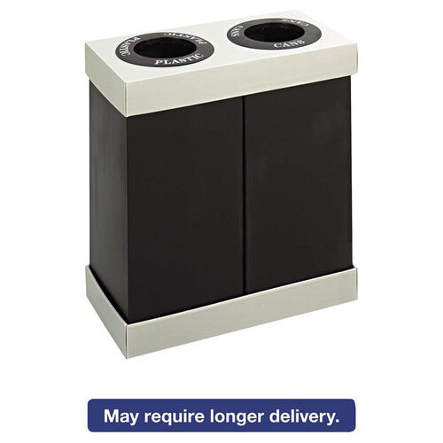 Our Safco® At-Your-Disposal Recycling Center - Polyethylene - Two 28gal Bins - Black is on sale now.