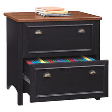 Stanford 2 Drawer Lateral File Cabinet - Black